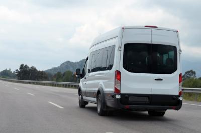 minivan on road